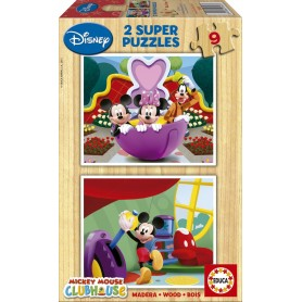 PUZZLE DE MADERA 2X9 PZ MICKEY MOUSE