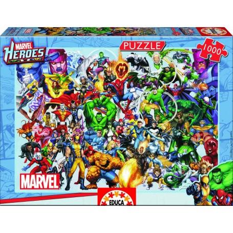 PUZZLE HEROES MARVEL 1000 PZAS