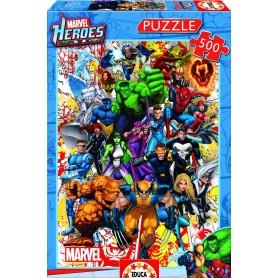 PUZZLE HEROES MARVEL 500PZ