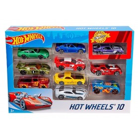 PACK 10 VEHICULOS HOTWHEELS