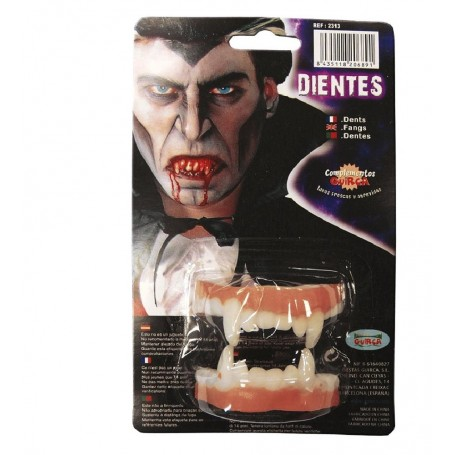 DIENTES VAMPIRO DOBLES LATEX