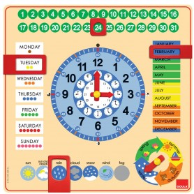 RELOJ CALENDARIO ESCOLAR EN INGLES