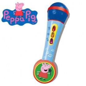 MICRO DE MANO CON AMPLIFICADOR Y RITMO - PEPPA PIG