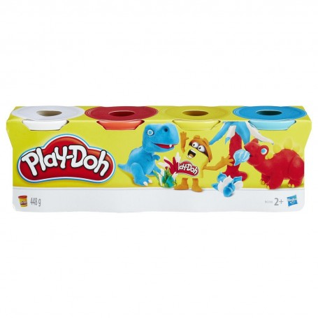PLAYDOH PACK 4 BOTES (Colores surtidos)