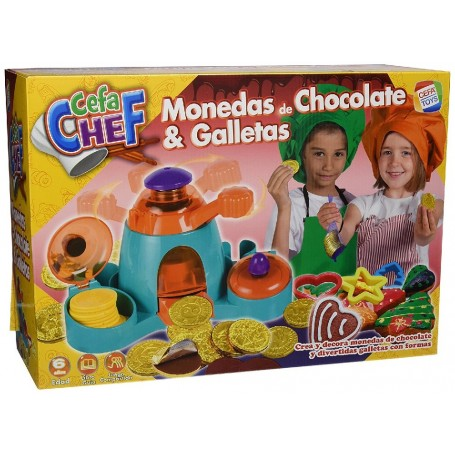 CEFA CHEF - MONEDAS DE CHOCOLATE Y GALLETAS