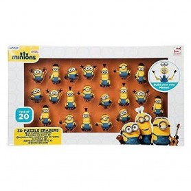 PACK 20 GOMAS PUZZLE 3D MINIONS