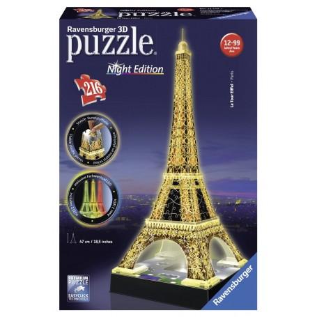 PUZZLE 3D TORRE EIFFEL NIGHT EDITION DE 216 PIEZAS