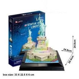 PUZZLE 3D ESTATUA DE LA LIBERTAD LEDS 37 PCS