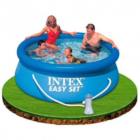PISCINA HINCHABLE EASY SET 244 X 76 CM CON DEPURADORA