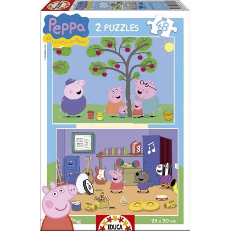 PUZZLE PEPPA PIG  2 X 48 PIEZAS