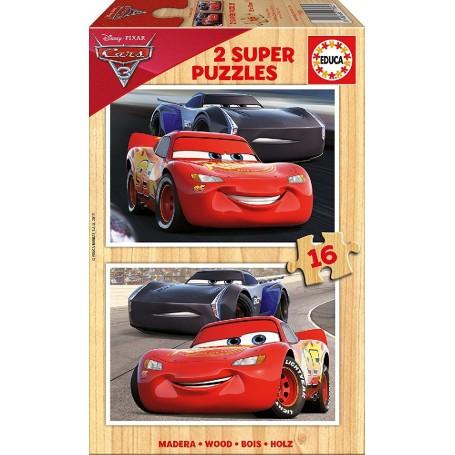 CARS 3 -  2 PUZZLES DE 16 PIEZAS