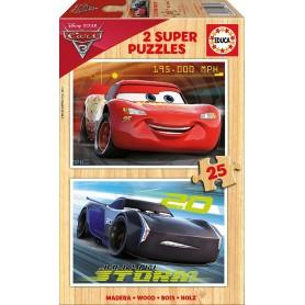 CARS 3 - 2 PUZZLES DE 25 PIEZAS