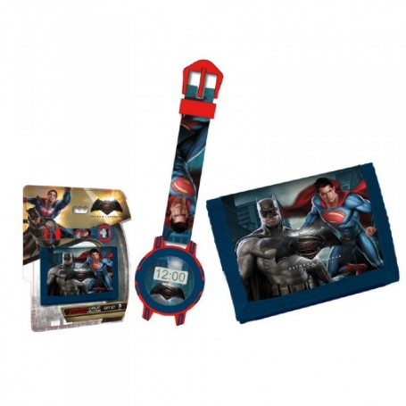SET RELOJ + BILLETERA BATMAN VS SUPERMAN