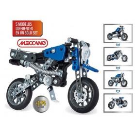 MECCANO 5 MODELOS MOTOS