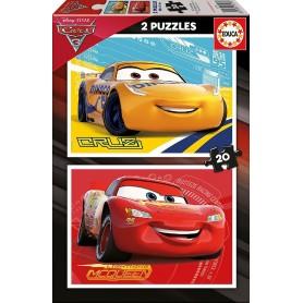 CARS 3 - 2 PUZZLES DE 20 PIEZAS