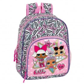 MOCHILA INFANTIL ADAPTABLE A CARRO LOL SURPRISE 34CM