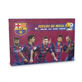JUEGOS DE MESA 4EN1 FC BARCELONA