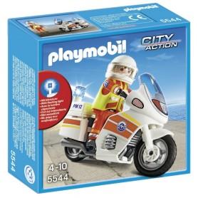 MOTO DE EMERGENCIAS CON LUZ  PLAYMOBIL 5544