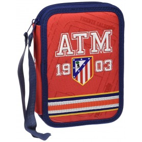 PLUMIER DOBLE  ATLETICO MADRID 1903 BORDADO