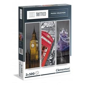 3 PUZZLES 500 PIEZAS TRIPTICO LONDRES