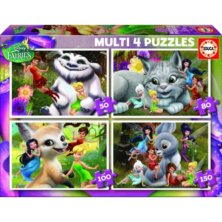 PUZZLE MULTI 4 PUZZLES FAIRIES 50-80-100-150