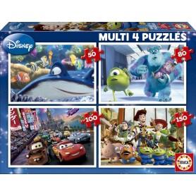 PUZZLE MULTI 4 PUZZLES 50-80-100-150 DISNEY PIXAR