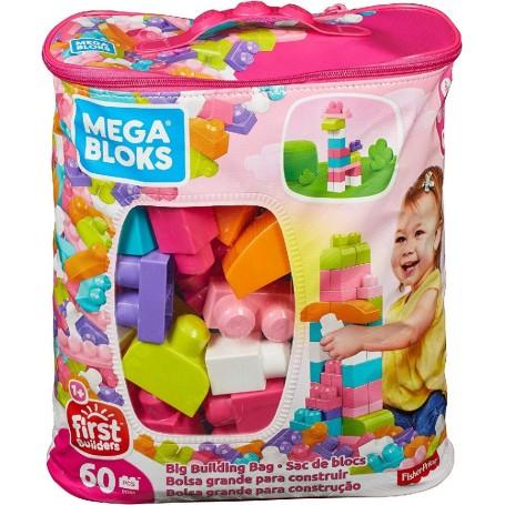 MEGA BOLSA 60 PCS ROSA FIRST BUILDERS MEGA BLOKS
