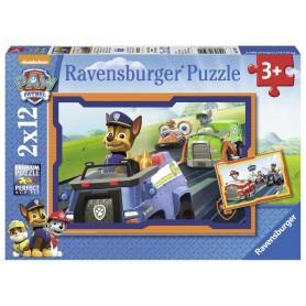 PAW PATROL - PUZZLE, 2 X 12 PIEZAS