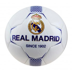 REAL MADRID BALON N1 MEDIANO BLANCO-AZUL TALLA 2