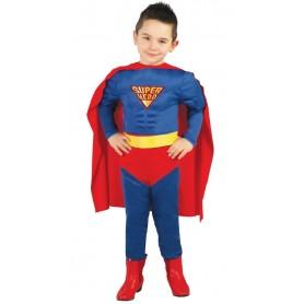 DISFRAZ SUPER HERO MUSCULOSO TALLA 3-4 AÑOS