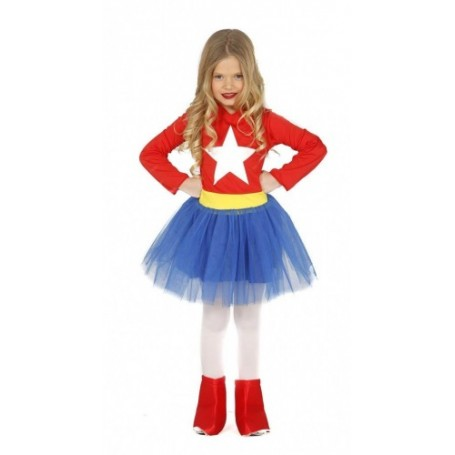 DISDFRAZ SUPERCHICA 3-4 AÑOS SUPERGIRL