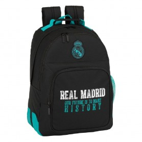 MOCHILA REAL MADRID BLACK 42CM ADAPTABLE