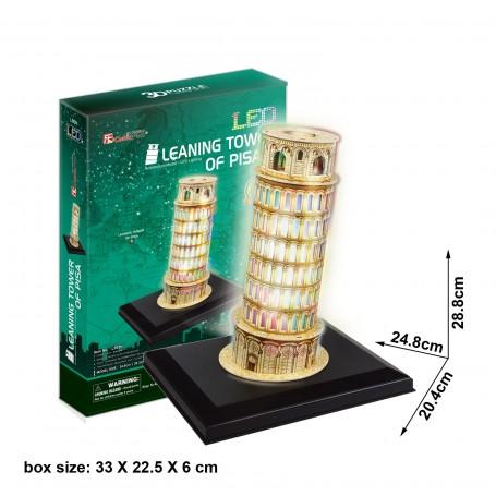 PUZZLE 3D TORRE PISA LEDS 15 PCS