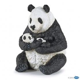 FIGURA PANDA SENTADO CON BEBE ( PAPO ) 50196
