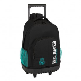 MOCHILA TROLLEY COMPACT REAL MADRID BLACK 45CM
