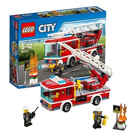 CAMION DE BOMBEROS CON ESCALERA 60107  LEGO CITY