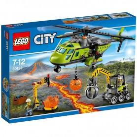 VOLCÁN: HELICÓPTERO DE SUMINISTROS 60123  LEGO CITY