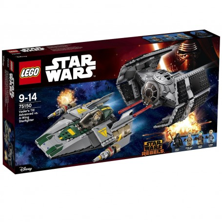 TIE ADVANCED DE VADER VS. A-WING STARFIGHTER 75150 LEGO STAR WARS