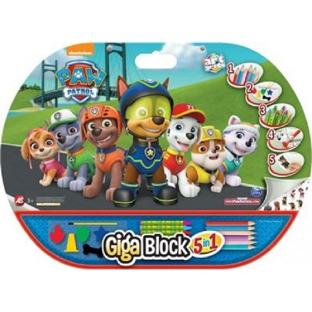 GIGA BLOCK PATRULLA CANINA 5 EN 1 DIBUJO