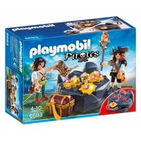 ESCONDITE DEL TESORO PIRATA PLAYMOBIL 6683