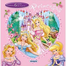 PRINCESAS (LIBRO PUZLE DE 12 PIEZAS)