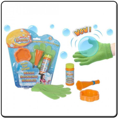 GUANTE BOUNCING BUBBLE KIT COMPLETO BURBUJAS