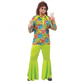 DISFRAZ HIPPIE FLOWER POWER ADULTO T.M