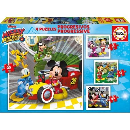 4 PUZZLES PROGRESIVOS MICKEY SUPERPILOTOS