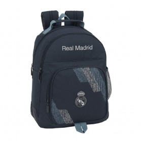 "MOCHILA DOBLE ADAPTABLE CARRO REAL MADRID ""BLACK"""