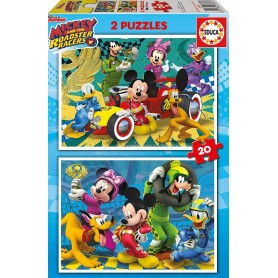 PUZZLES 2X20 MICKEY Y LOS SUPERPILOTOS