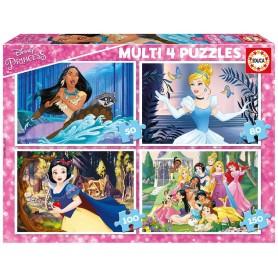 MULTI 4 PUZZLES PRINCESAS DISNEY
