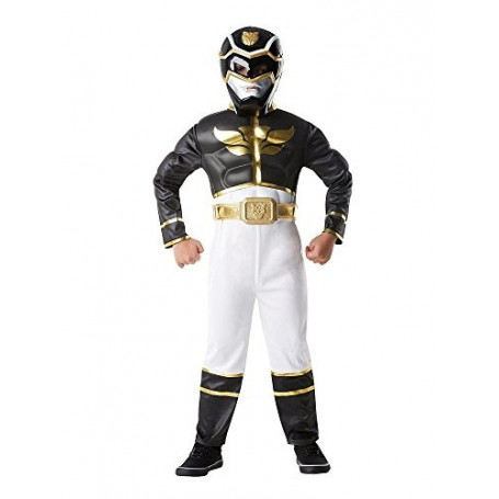 DISFRAZ POWER RANGERS NEGRO MEGAFORCE 5-6 AÑOS