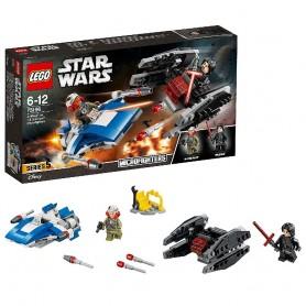 MICROFIGHTERS: ALA-A VS. SILENCIADOR TIE LEGO Star Wars 75196