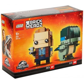 JURASSIC WORLD - OWEN AND BLUE LEGO BRICKHEADZ 41614